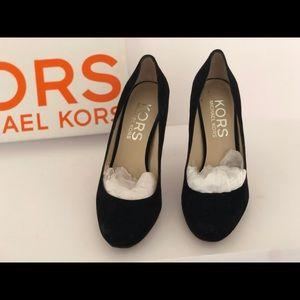 Michael Kors black suede heels.